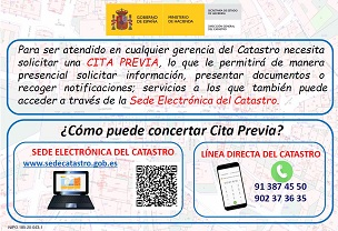 Informative poster on previous appointment of the General Direction of the Cadastre