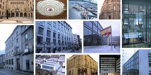 Pictures of different headquarters of Economy and Finance Delegations